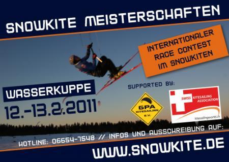 08/02/2011 UPDATE: causa condições climáticas ainda desfavoráveis, aedição2011 do Campeonato Internacional de Snowkite é cancelada de forma definitiva. Nova data para o terceiro Campeonato Internacional de Snowkite modalidade Race: agora está marcada pelos dias 12...