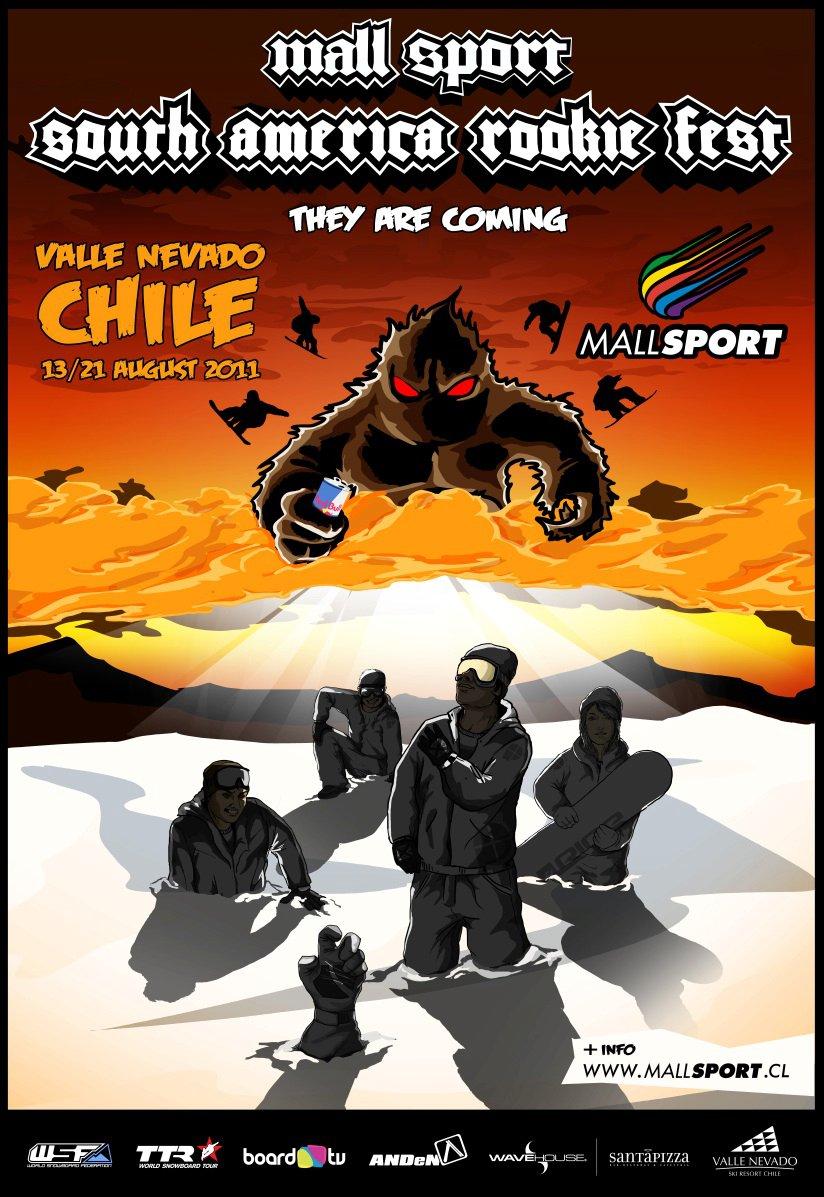 Mall Sport South America Rookie Fest 2011 from Board.tv on Vimeo. Pelo segundo ano consecutivo snowboarders de vários Países como Noruega, Áustria, Sueca, República Checa, Chile, Argentina, reuniram-se em Valle Nevado (CHL) para se desafiarem...