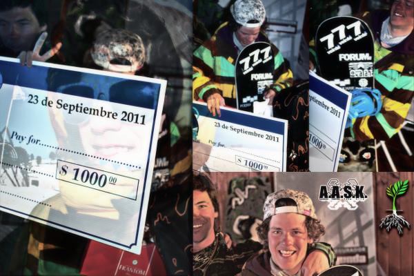 """Cortesia AASK – Juan Canale Juan """"Juank"""" Canale ganha o Red Bull Snowkite Pro edição 2011, a mais importante competição de snowkite freestyle da América Latina que aconteceu ontem, sábado dia 01 de outubro 2011,..."""