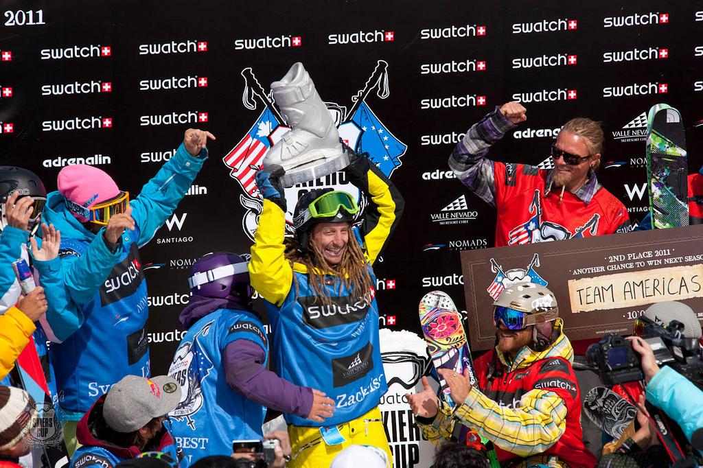 Pódio Europeian Freeski Team 2011 É o time dos freeskiers europeus, capitaneados pelo norueguês Kaj Zackrisson, que conquistou a primeira edição da Swatch Skiers Cup que aconteceu nas neves da estação de esqui de Valle...