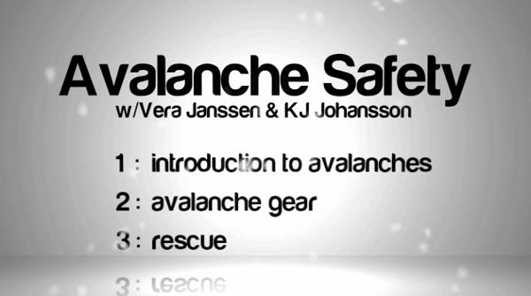 AVALANCHE SAFETY W/ VERA JANSSEN & KJ JOHANSSON from MAHFIA.COM on Vimeo. Fazer backcountry no meio de toneladas de fresh powder é sem dúvida nenhuma a melhor sensação que se pode experimentar na neve, mas...