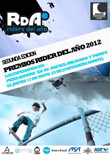 Chegou a segunda edição do prêmio Riders del Año (RDA), o grande evento em Buenos Aires (ARG) dedicado aos board sports (surf, sk8 e snowboard) e realizado para parabenizar os melhores protagonistas argentinos que mais...