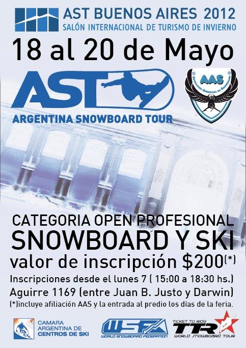 O primeiro evento de snowboard da temporada invernal da América Latina para 2012 está marcado para acontecer nos dias 18, 19 e 20 de maio. Como todos os anos a cidade de Buenos Aires (ARG)...