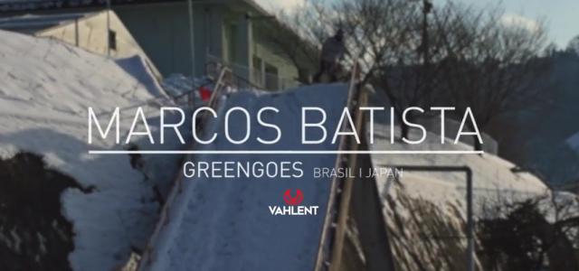 Marcos Batista SNOWboarding I GREENGOES from Marcelo Neto on Vimeo Mais uma produção nacional, mais um capítulo da Greengoes! Mais uma vez o foco desse projeto vídeo é o nosso querido rider de freestyle Marcos...