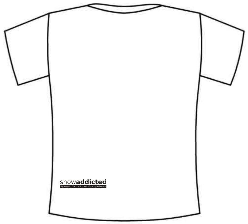 T-shirt Snowaddicted - Mod001